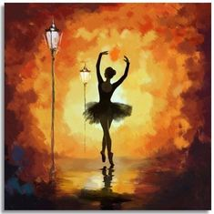 30 Best Canvas Painting Ideas for Beginners . Ballerina Kunst, Ballerina Painting, Dance Paintings, Ballet Art, Mini Canvas Art, Canvas Frame, Cool Art Drawings, Beginner Painting, Silhouette Art