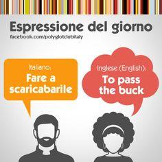 English / Italian idiom: To pass the buck