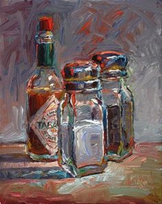 """Salt, Pepper, and Tabasco"" - Original Fine Art for Sale - © Raymond Logan"