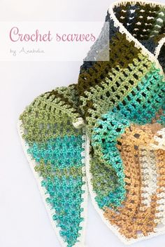 Crochet scarves by Anabelia