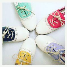 colorful saddle shoes