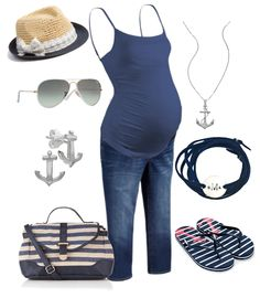 Summer Nautical Maternity Fashion