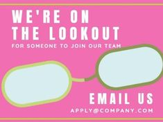 A simple Job Vacancy template with a pink background, and white contrasting text. Join Our Team, How To Apply, Positivity, Templates, Logos, Simple, Pink, Stencils, Logo