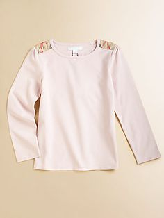 Burberry Little Girl's Shoulder Check Top