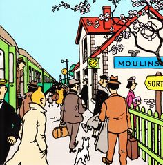 Carte gare de Moulinsart - 2004 • Tintin, Herge j'aime