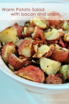 Foodie » Warm Potato Salad with Bacon and Onion Recipe