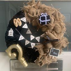 Burlap Wreath, Hanukkah, Wreaths, Halloween, Home Decor, Decoration Home, Door Wreaths, Room Decor, Burlap Garland