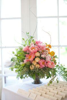Photography by carolinefrostphotography.com, Floral Design by SplendidStems.com Coral Charm Parrot Tulips Garrison NY Hudson Valley wedding