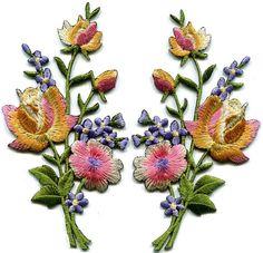 Golden Or Fleur 8/' 20 cm brodé Iron sew on patch badge applique Trim