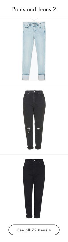 """""""Pants and Jeans 2"""" by theonlynewgirl ❤ liked on Polyvore featuring jeans, pants, bottoms, pantalones, light blue, blue jeans, zara jeans, light blue jeans, trousers i calças"""