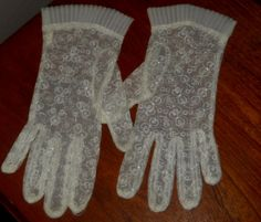 Ladies Vintage Lace See Through Gloves by Luv2Junk on Etsy, $9.75