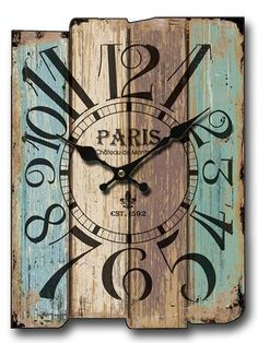 Rustic Wood Wall Clock, Old Wood Pieces - My best home decor list Unique Clocks, Rustic Wall Clocks, Wood Clocks, Clock Old, Diy Clock, Pallet Clock, Rustic Wood Walls, Old Wall, Wood Pieces