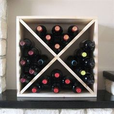 Pine Wooden Wine Rack - Cellar Cube 223mm