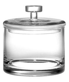 6'' Lidded Glass Cookie Jar #zulily #zulilyfinds