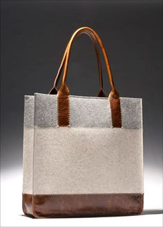 Felt and leather bag by graf-lantz.com | Architect's Fashion