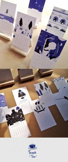 Diy simple easels 5 Tips Wajib Ketika Mendesain Kalender 2016 - Creative Calendar, Kids Calendar, Desktop Calendar, Wooden Calendar, Book Design, Layout Design, Cover Design, Design Design, Design Ideas