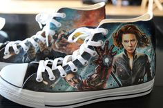 Custom Converse Avengers. These are awesome!