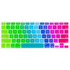 Kuzy - Newest Rainbow Keyboard Cover Silicone Skin for Ma...