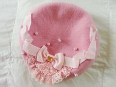 Angelic Pretty Royal Chocolate Beret in pink