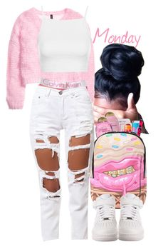 Cupcake MAFIA ♥ by slickpoet on Polyvore featuring H&M, Topshop, Reverse, Sprayground, NIKE, Maybelline and Happy Plugs