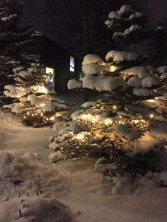 Lumi ja kartanon valot