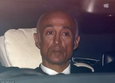 Andrew Ridgeley, who was in Wham! with Michael, was also at the service. He is pictured le...