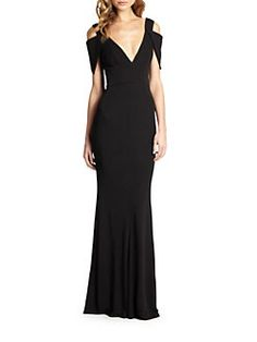 ABS - Jersey Triangle-Sleeve Gown