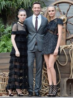 Rooney Mara, Hugh Jackman and Cara Delevingne attend the World Premiere of Pan at Odeon Leicester Square in London.   David M. Benett, WireImage