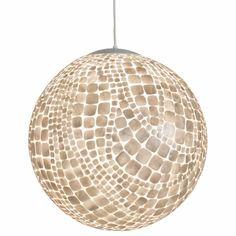 Worlds Away Croc Capiz Shell Ball Pendant | Round | Pendants | Lighting | Candelabra, Inc.