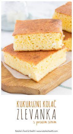 Kukuruzni kolač s posnim sirom - kukuruzna zlevanka