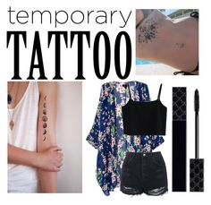 """""""Summer Freedom"""" by drummergirl95 ❤ liked on Polyvore featuring Chicwish, Topshop, Gucci and temporarytattoo"""