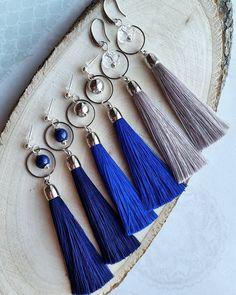 Check it out. Green Tassel Earrings, Tassel Jewelry, Simple Earrings, Beaded Earrings, Silk Thread Bangles Design, Glands, Braided Bracelets, Fashion Earrings, Jewelry Crafts