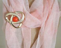 Signed Sarah Cov Vintage Gold Knot Cabochon Brooch - Sarah Cov Vintage Jewelry - Vintage Knot Pin with Cabochon-1970 Vintage Costume Jewelry - Edit Listing - Etsy