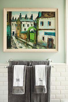 Monogrammed towels