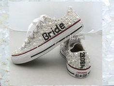 Wedding converse / luxury footwear/ bridesmaid converse / premium range /pearl converse / vintage / delicate / romantic / name converse
