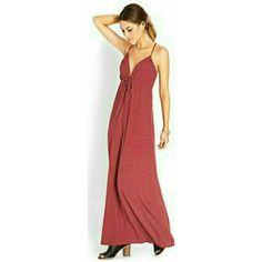 Forever 21 Red & White Polka-Dot Maxi Dress