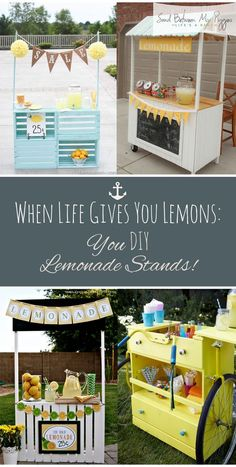 If Life Gives You Lemons: You Stand for DIY Lemonade! DIY lemonade stand, lemonade … - DIY Projects for Kids Summer Crafts For Kids, Diy Projects For Kids, Summer Diy, Kids Lemonade Stands, Diy Décoration, Summer Activities, Making Ideas, Decoration, Camping Hacks