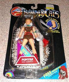 1986 Thundercats Pumyra  Action Figure Good  New on Card LJN Battle Matic Action