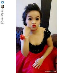 """Miss @nellychen22 wearing our Angela Lace in black. Thank you for trusting us dear, happy you like it! 😘😘 with @repostapp. ・・・ My new fashion, clothes  by mom @charistinaliem """" wedding party"""" 1 juli 2015🎉🎉 #madebyorder #madebyrequest #custommade #dearcustomer #ordernow #dress #for #wedding #party #top #lace #skirt #gown #fashiondesigner #fashiondesign #indonesia #fashion #instagram #iphonesia #instafashion #collection #biehongtaylor #biehongcollection #charistinaliem"""