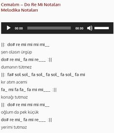 Cemalım - Do Re Mi - Nota #doremi #nota #melodika #flüt Do Re Mi, Note