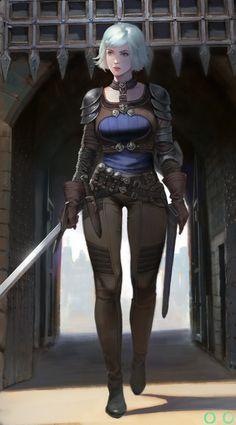 Finally a girl is no one (Warrior Girl), ㅇㅇ Joo on ArtStation at https://www.artstation.com/artwork/3D8N2