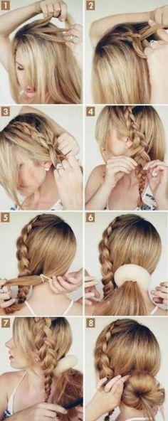 How To Do Side Braided Bun #Fashion #Trusper #Tip