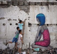 """by Seth GlobePainter - """"The Lady in Pink - Shanghai Summer stories, part 5 - Xintiandi, China - Aug 2015"""