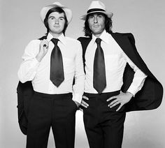 Jimmy Connors and Ilie Nastase