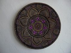 Тарелка декоративная керамическая