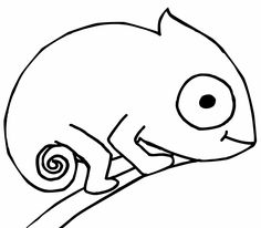 Free chameleon template small shapes and templates for Mixed up chameleon coloring page