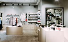 Beyond streetwear store designed by dSign Vertti Kivi & Co. Wear Store, Store Design, Streetwear, Shops, Retail, Interiors, How To Wear, Shopping, Home Decor