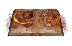 Some may ask what is the difference between a book of shadows and a grimoire? A book of shadows is an extremely personal item to a member of the craft Wiccan Spells, Magick, Dark Fantasy, Fantasy Art, Magia Elemental, Witch School, Pen & Paper, Ancient Artifacts, Book Of Shadows