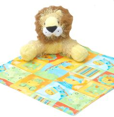 Lion Stuff Animal Critter Blanket Stuff by MendingLifeTogether, $20.00 use Cybercyber for 35% off