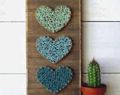 Mini coeurs String Art signe signe de coeur par LoveArtSoul11